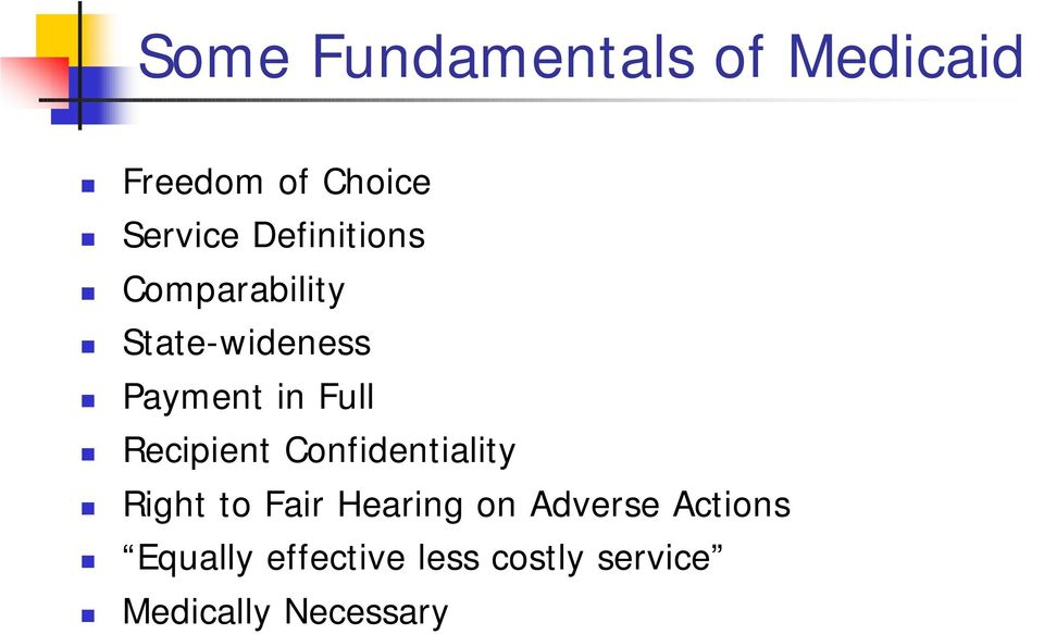 Recipient Confidentiality Right to Fair Hearing on Adverse
