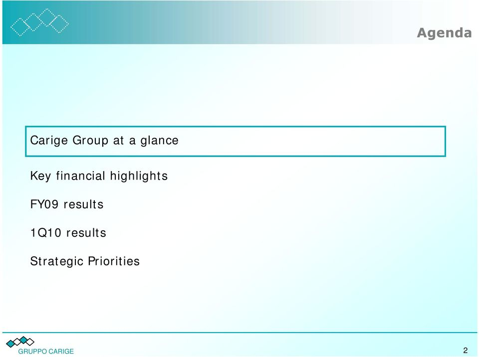highlights FY09 results 1Q10