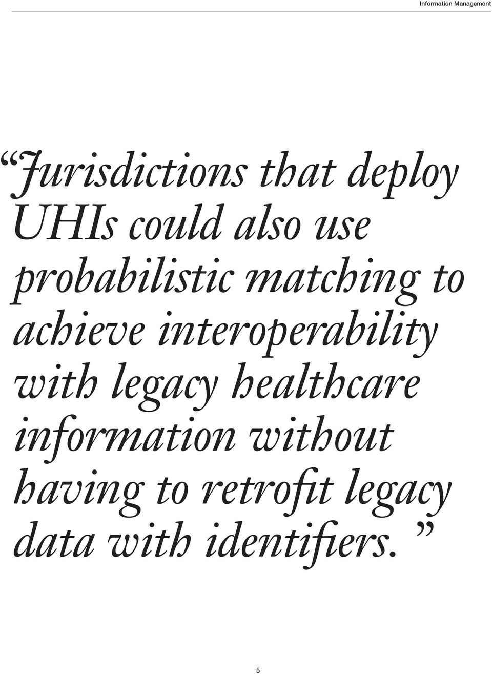 interoperability with legacy healthcare information