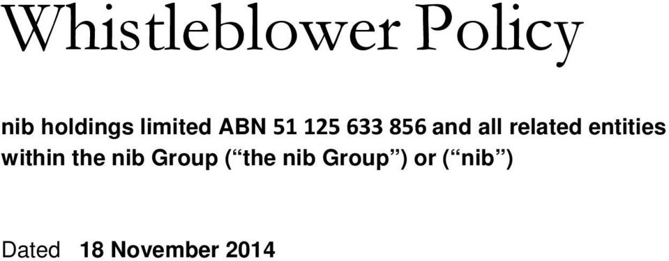 related entities within the nib Group (