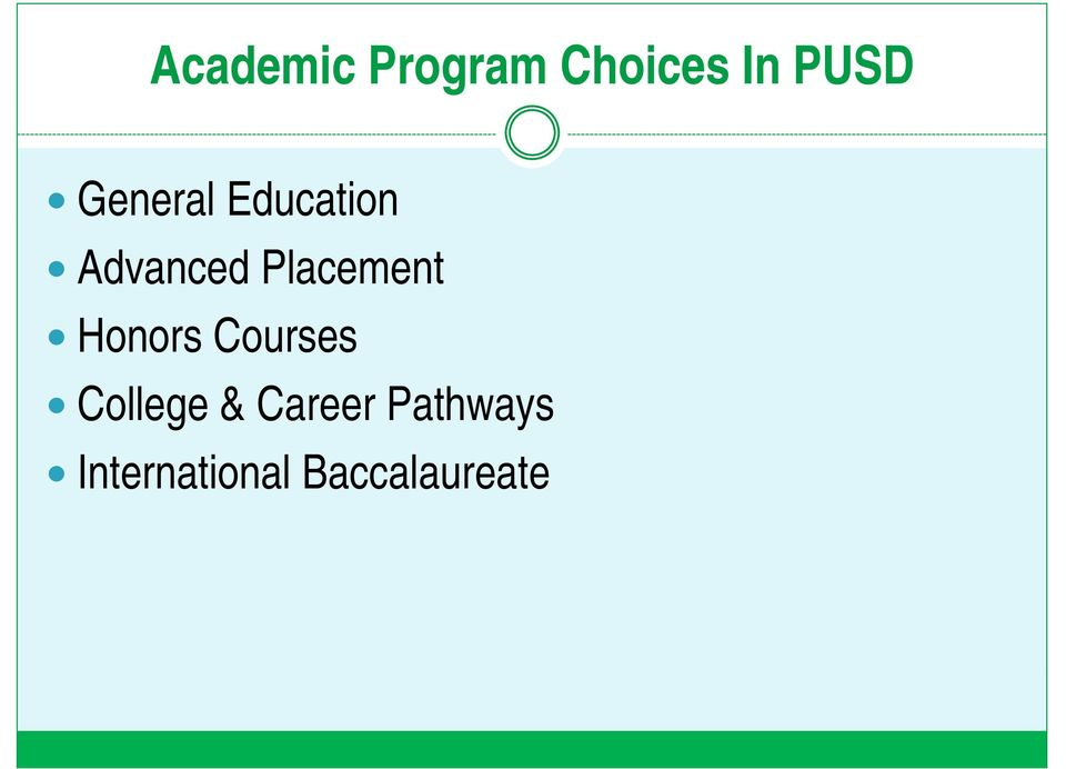 Placement Honors Courses College &
