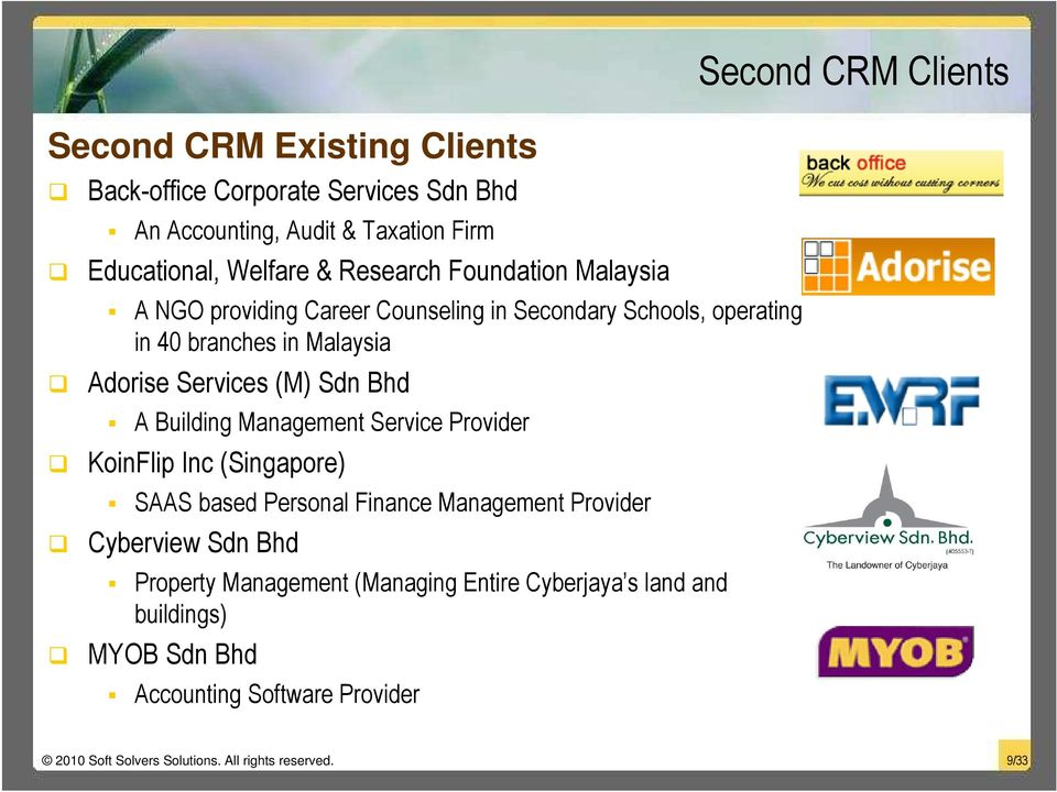 Management Service Provider KoinFlip Inc (Singapore) SAAS based Personal Finance Management Provider Cyberview Sdn Bhd Property Management