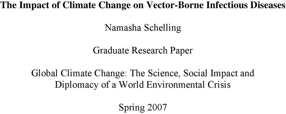 Research Paper Global Climate Change: The Science,