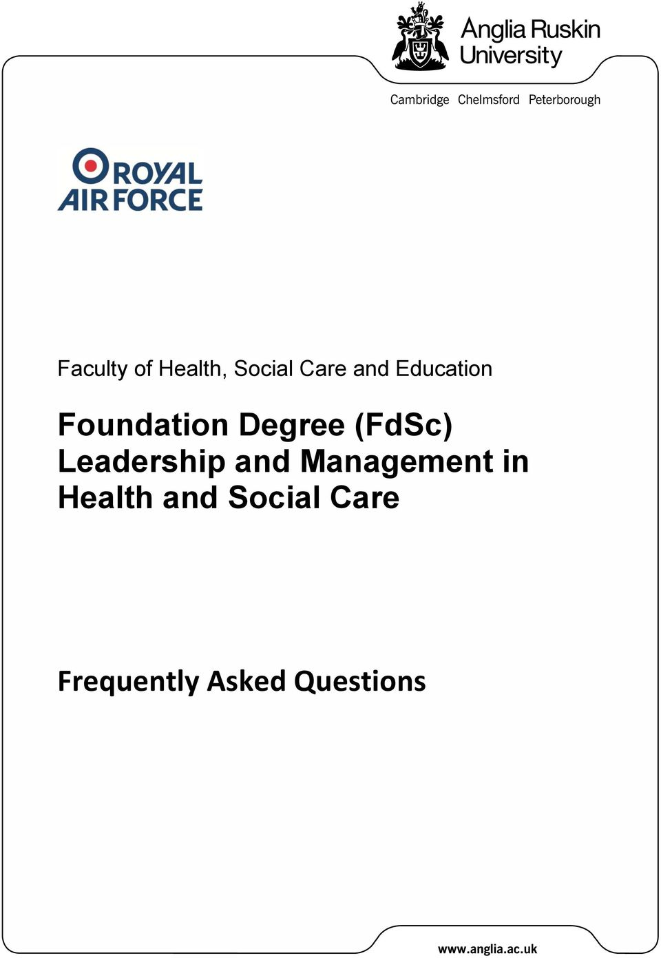 Leadership and Management in Health
