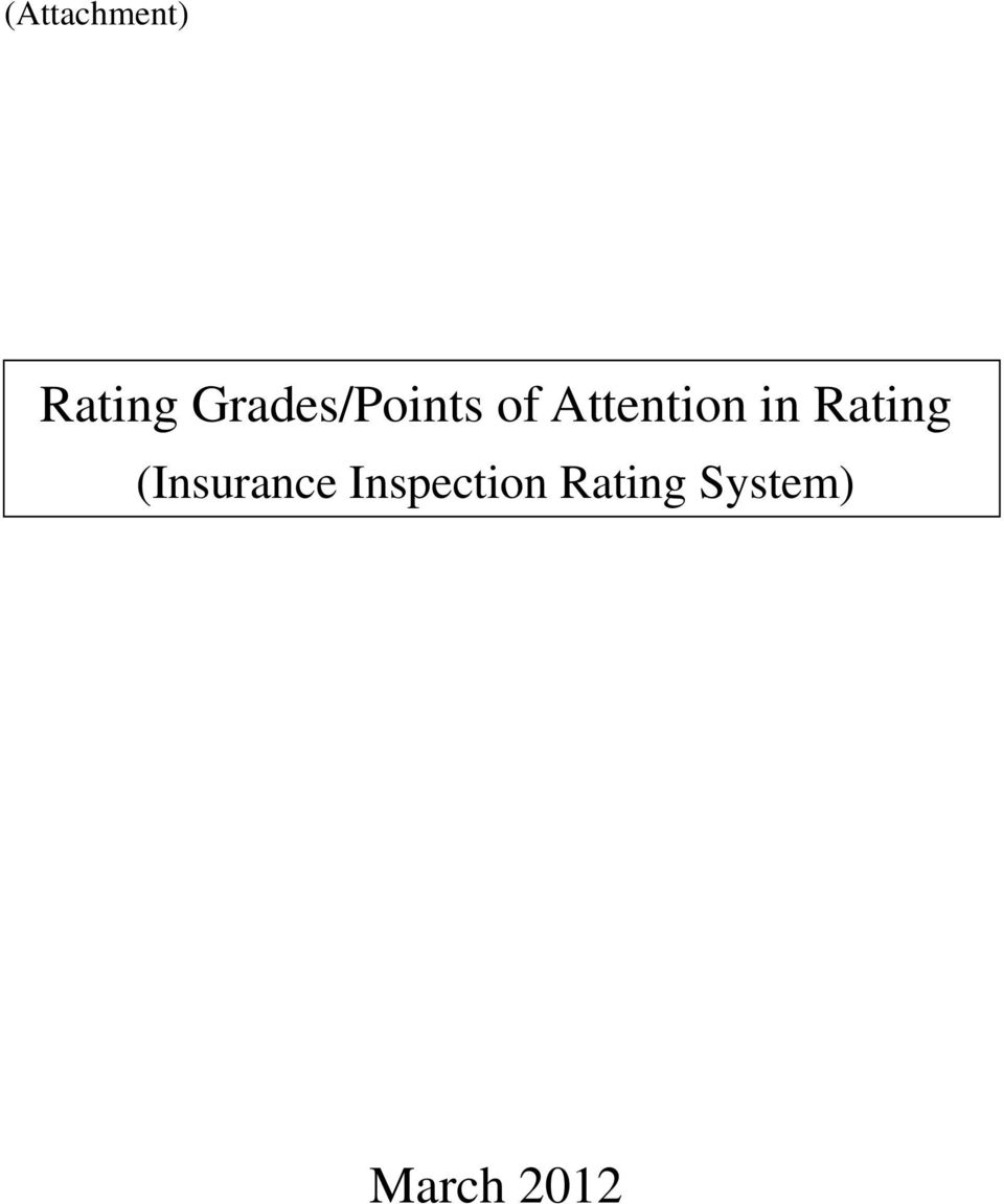 Attention in Rating