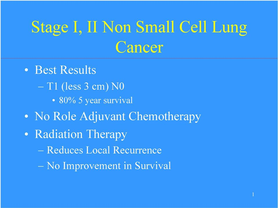 No Role Adjuvant Chemotherapy Radiation Therapy