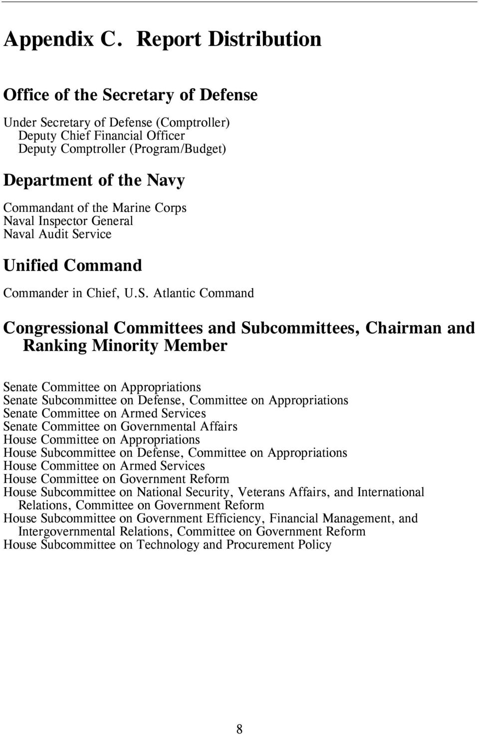 the Marine Corps Naval Inspector General Naval Audit Se