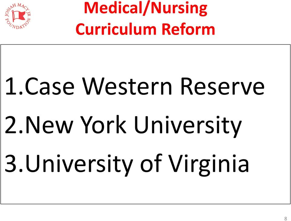 Case Western Reserve 2.