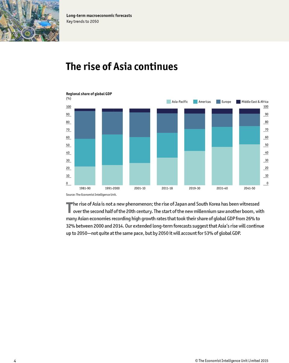 The start of the new millennium saw another boom, with many Asian economies recording high growth rates that took their share of global GDP from 26% to 32% between and 14.
