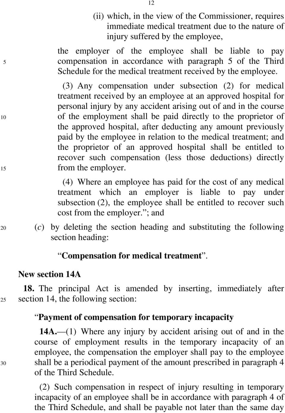 (3) Any compensation under subsection (2) for medical treatment received by an employee at an approved hospital for personal injury by any accident arising out of and in the course of the employment