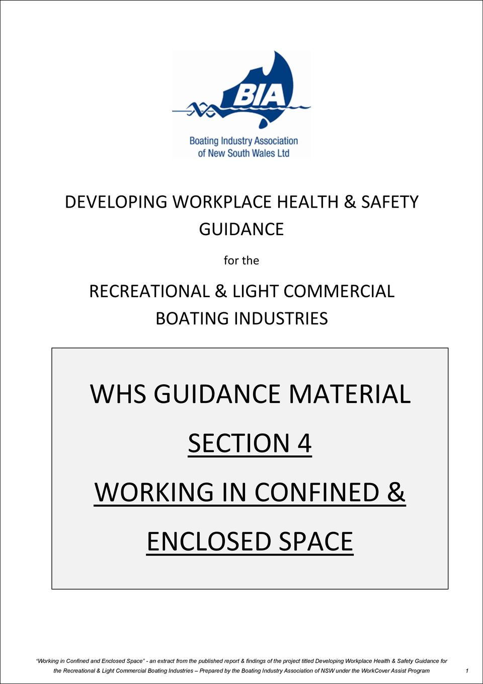 INDUSTRIES WHS GUIDANCE MATERIAL WHS GUIDANCE