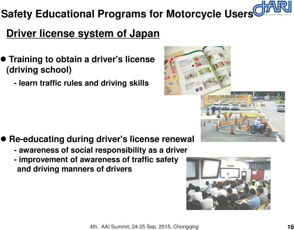 driver's license renewal - awareness of social responsibility as a driver - improvement of