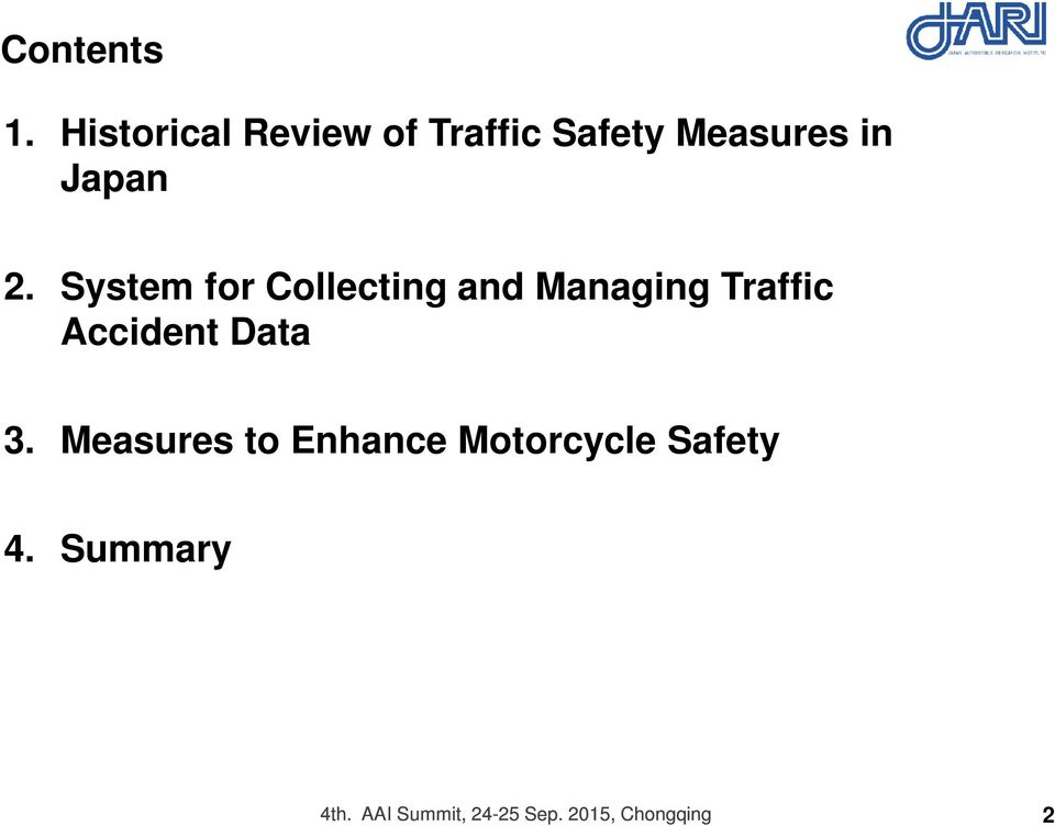 System for Collecting and Managing Traffic Accident Data