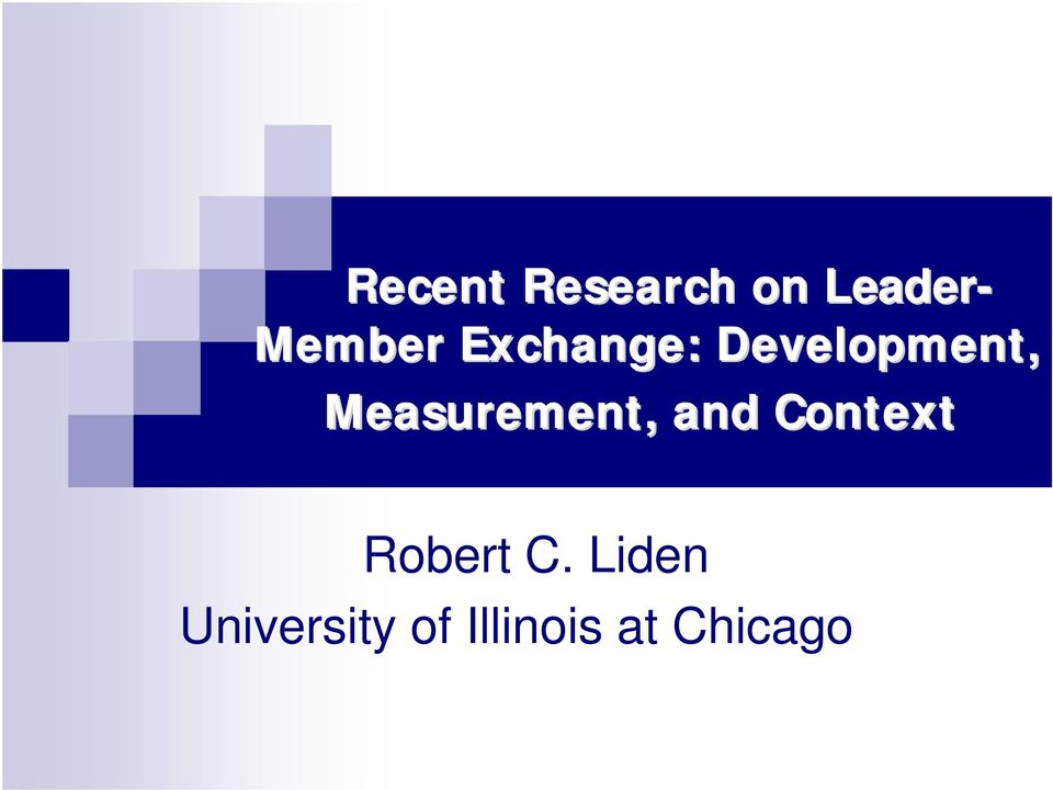 Measurement, and Context Robert