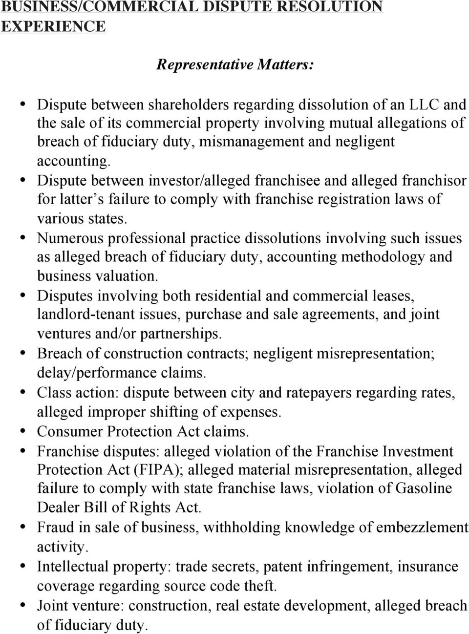 Dispute between investor/alleged franchisee and alleged franchisor for latter s failure to comply with franchise registration laws of various states.