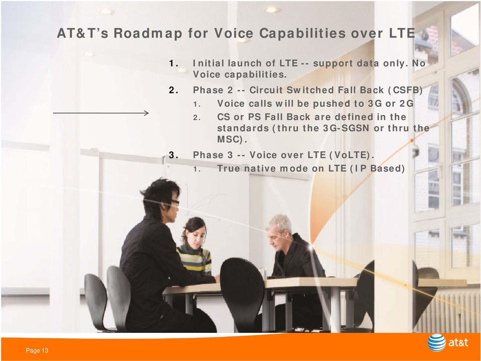 Voice calls will be pushed to 3G or 2G 2.