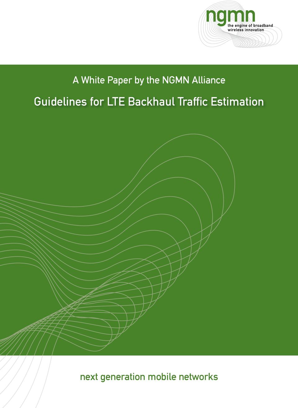 Backhaul Traffic Estimation