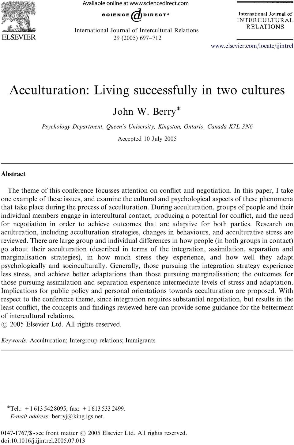 In this paper, I take one example of these issues, and examine the cultural and psychological aspects of these phenomena that take place during the process of acculturation.