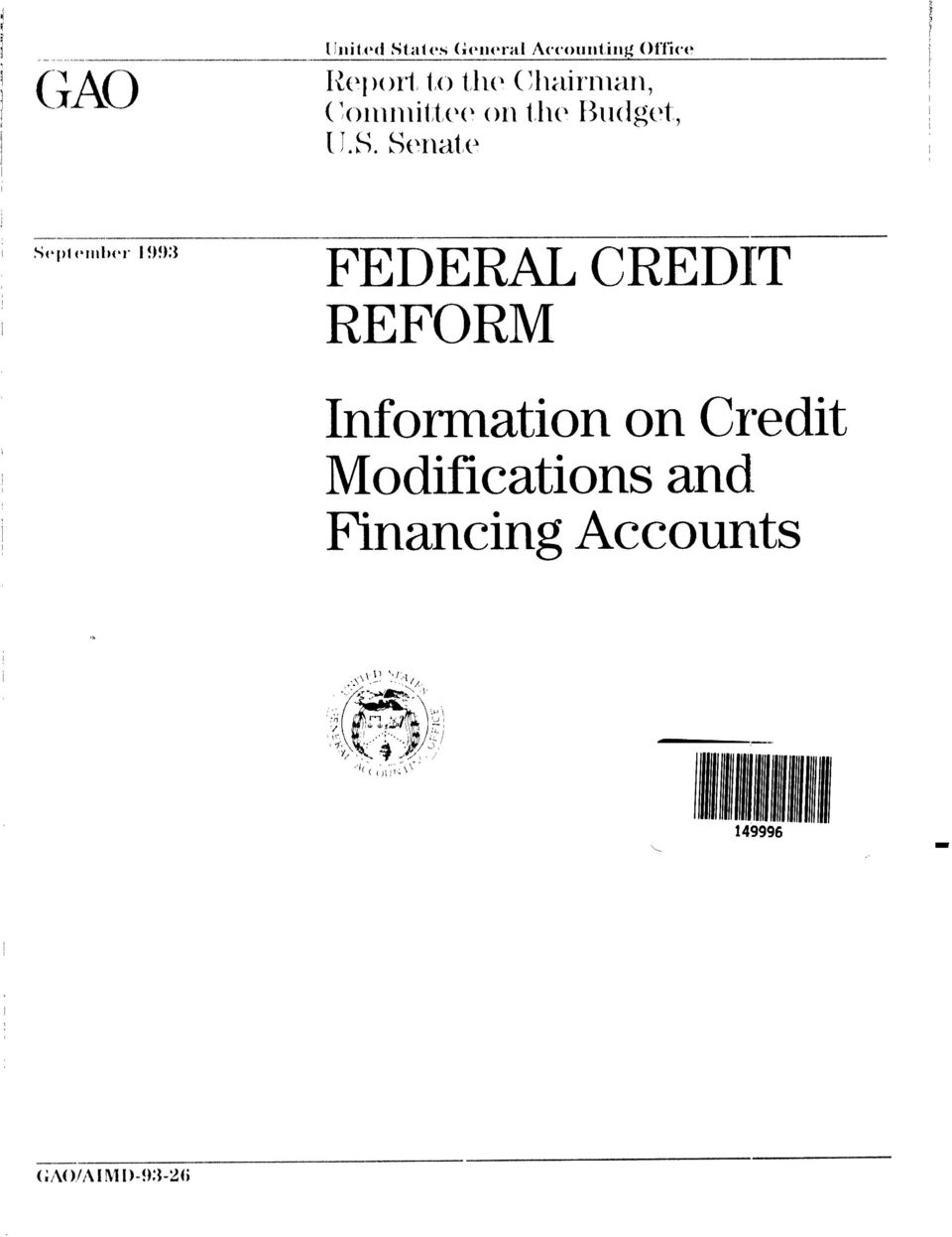 Credit Modifications and Financing Accounts