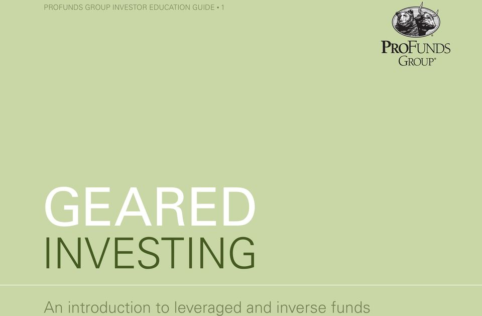 INVESTING An introduction