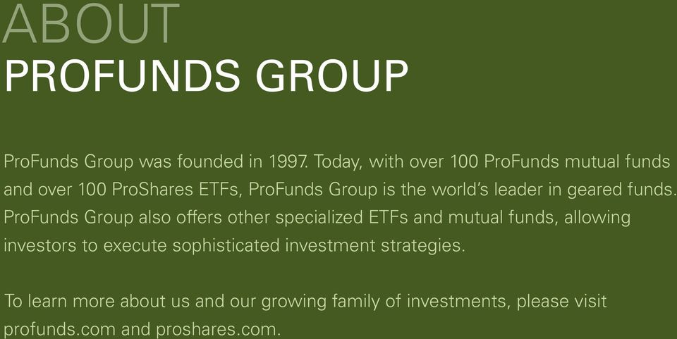 leader in geared funds.