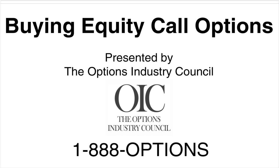 The Options Industry