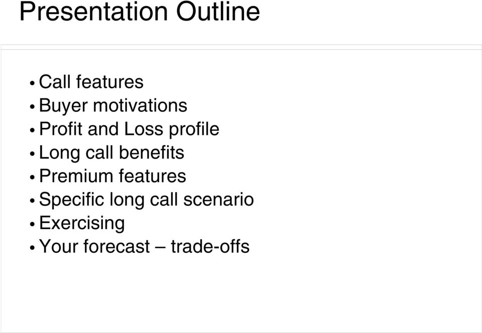call benefits Premium features Specific