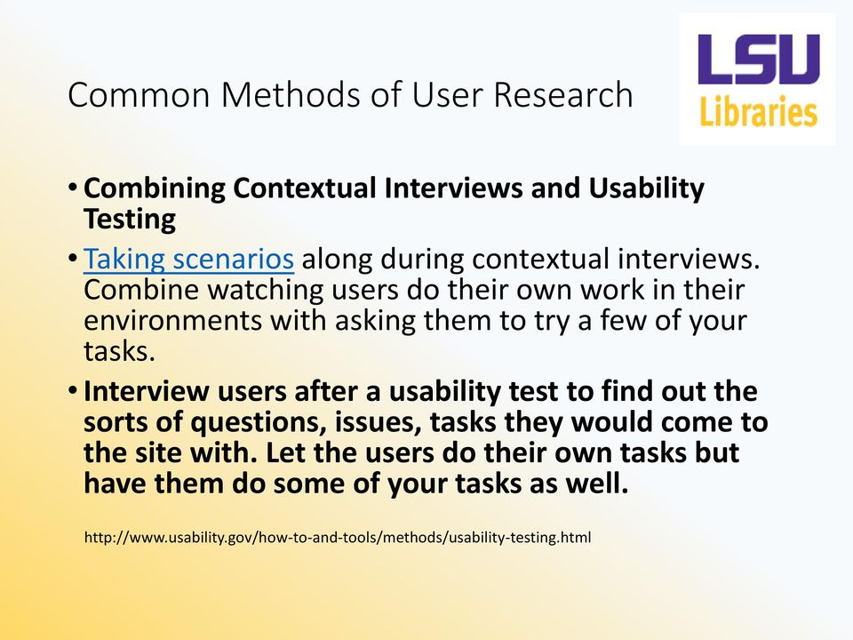 Interview users after a usability test to find out the sorts of questions, issues, tasks they would come to the site with.