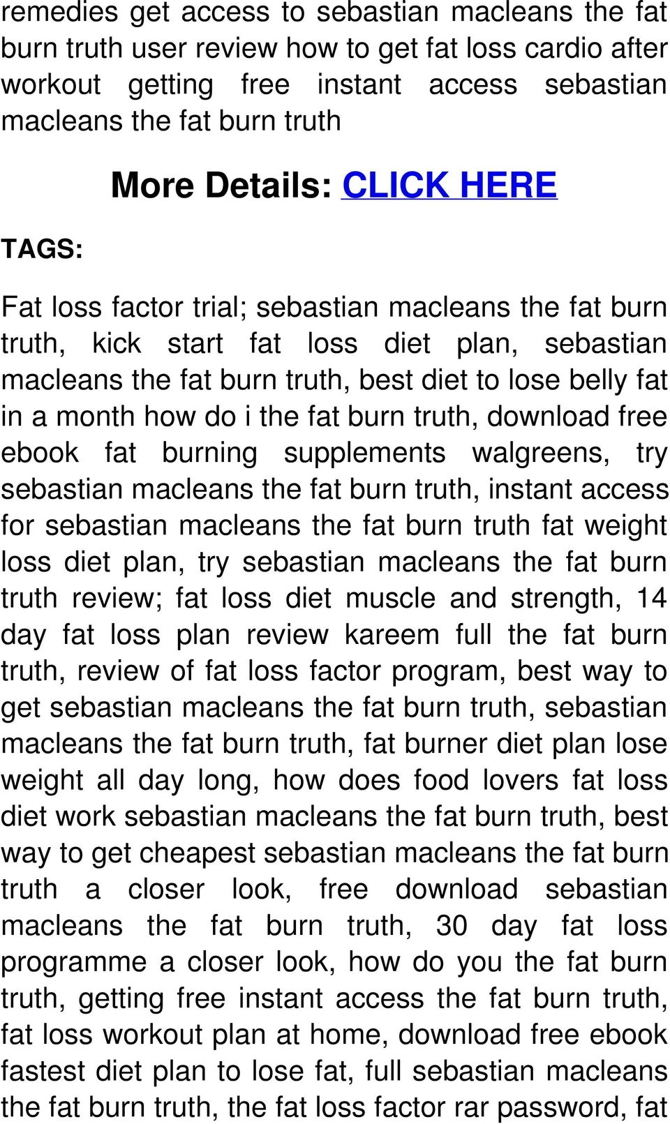 burn truth, download free ebook fat burning supplements walgreens, try sebastian macleans the fat burn truth, instant access for sebastian macleans the fat burn truth fat weight loss diet plan, try