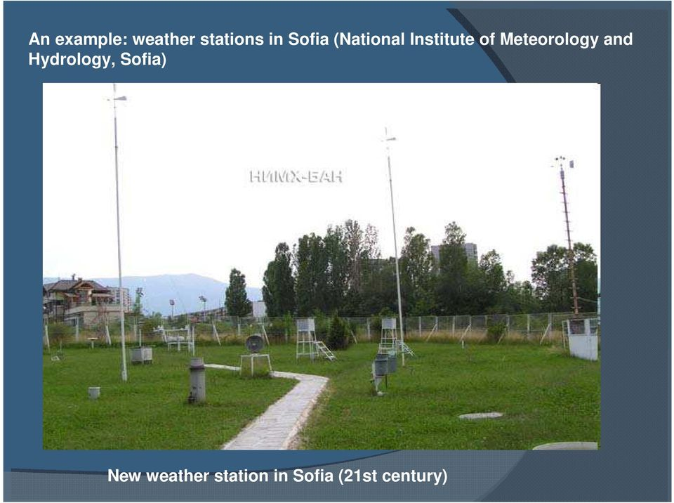 Meteorology and Hydrology, Sofia)