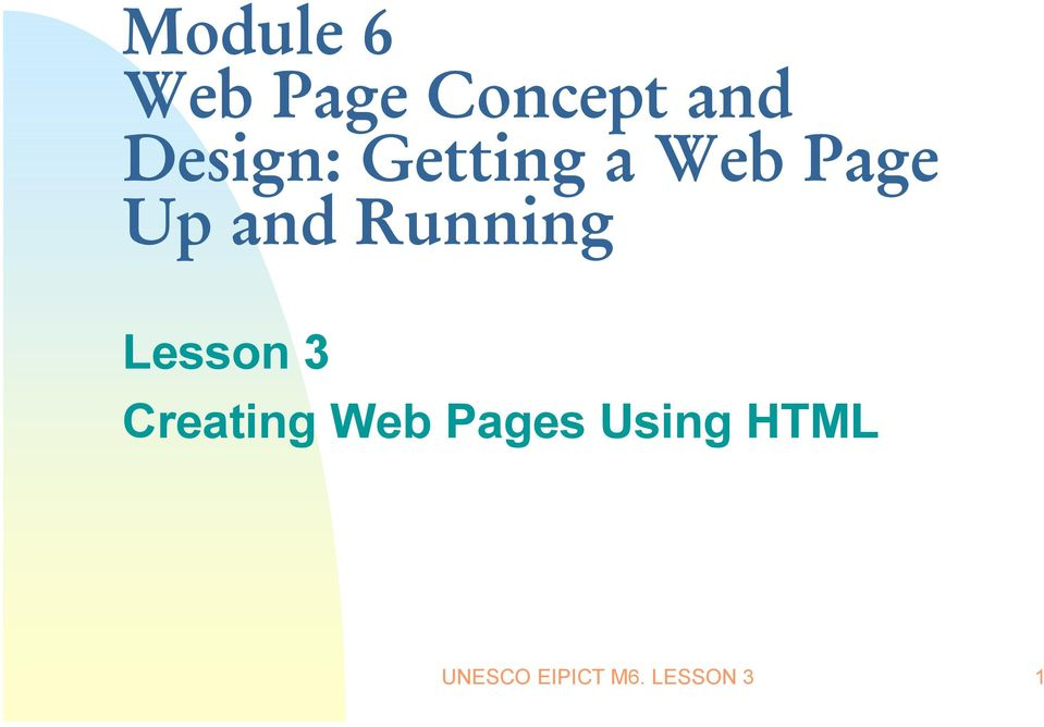 Running Lesson 3 Creating Web