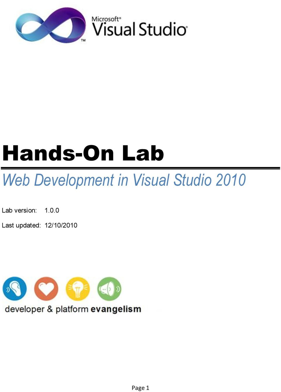 Studio 2010 Lab version:
