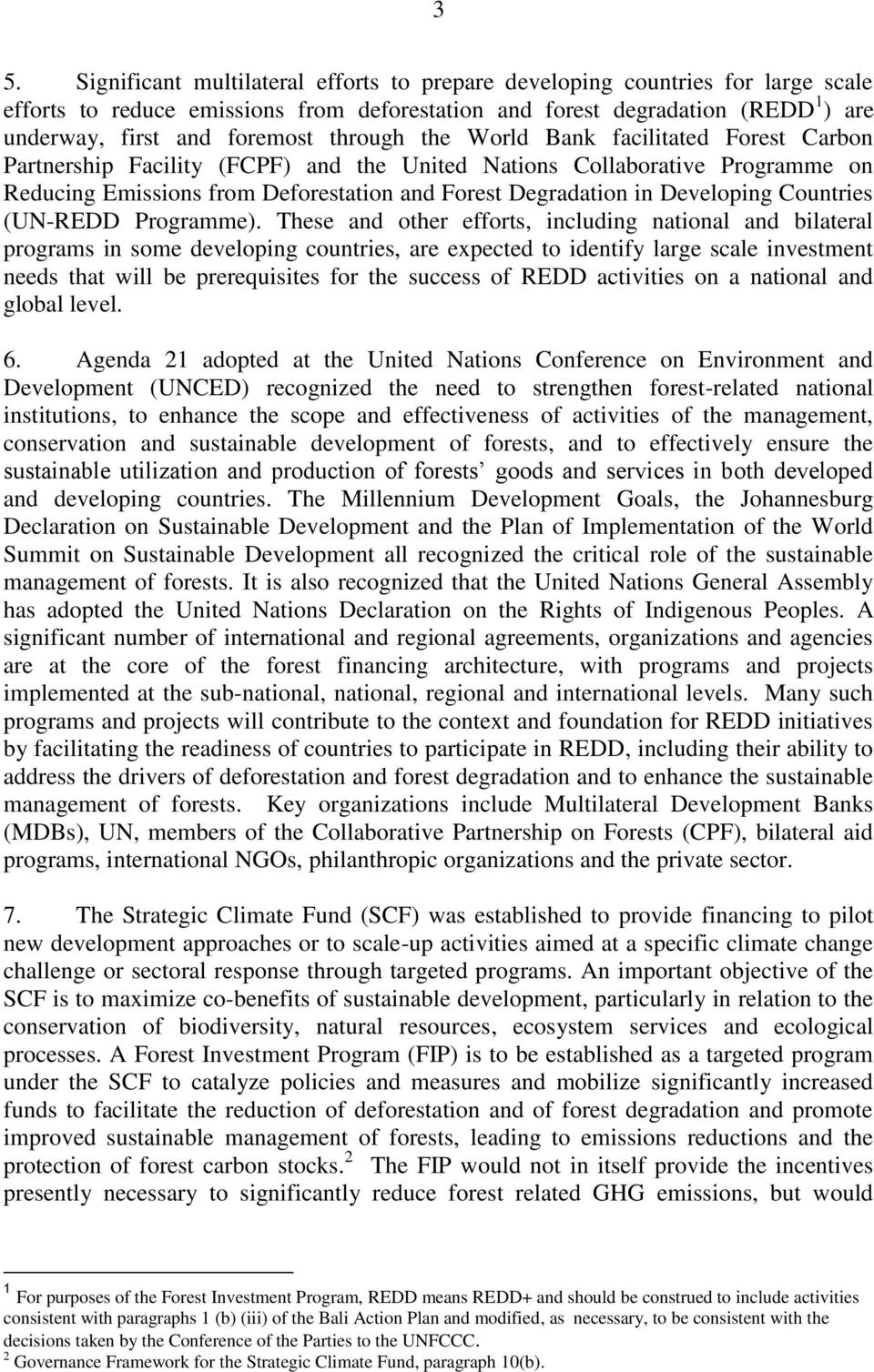 Developing Countries (UN-REDD Programme).