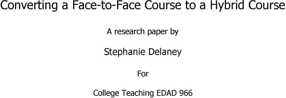 research paper by Stephanie