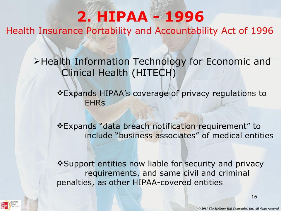 breach notification requirement to include business associates of medical entities Support entities now