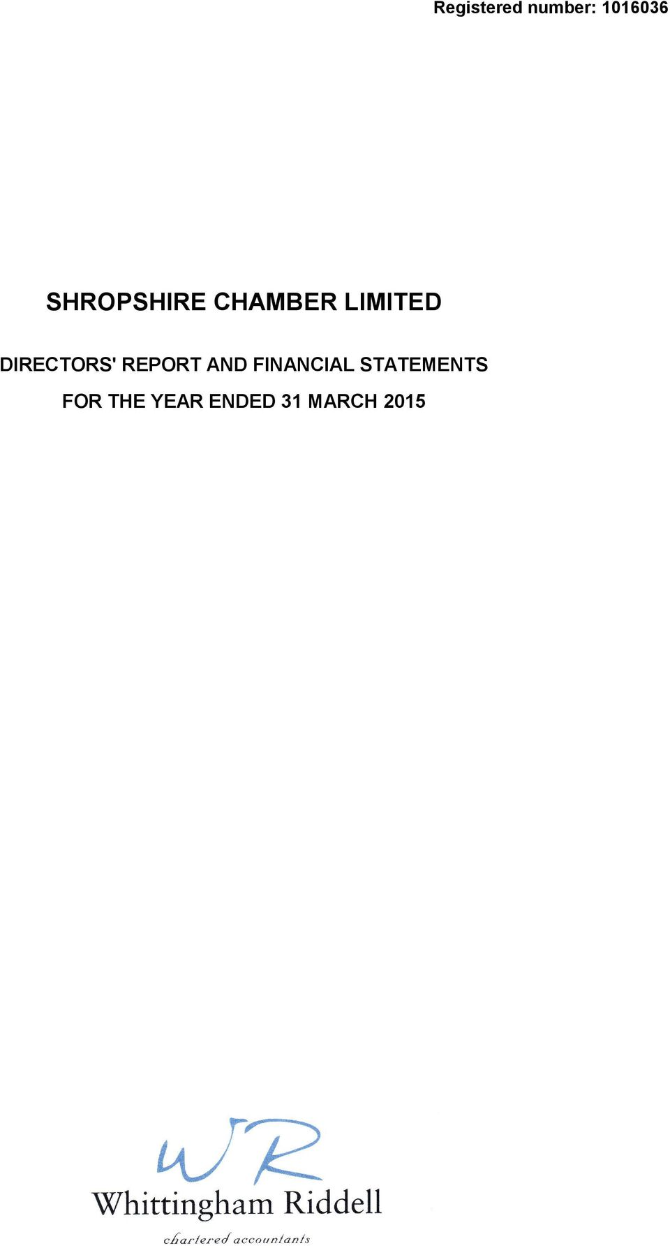 CHAMBER LIMITED