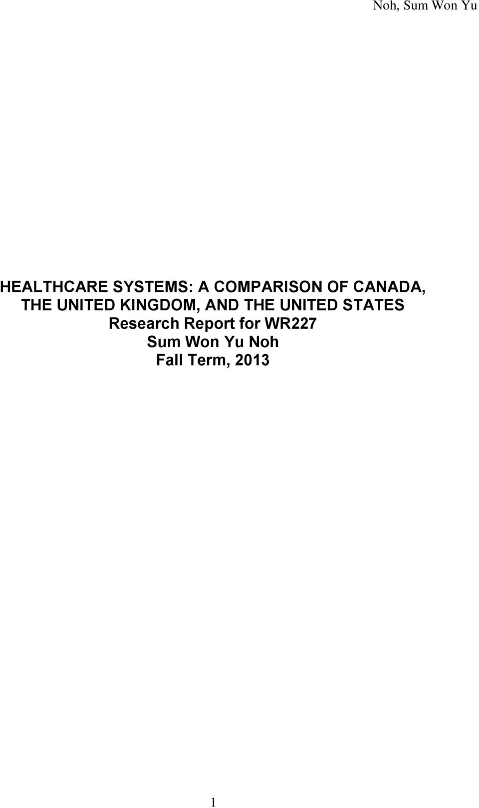 UNITED STATES Research Report for