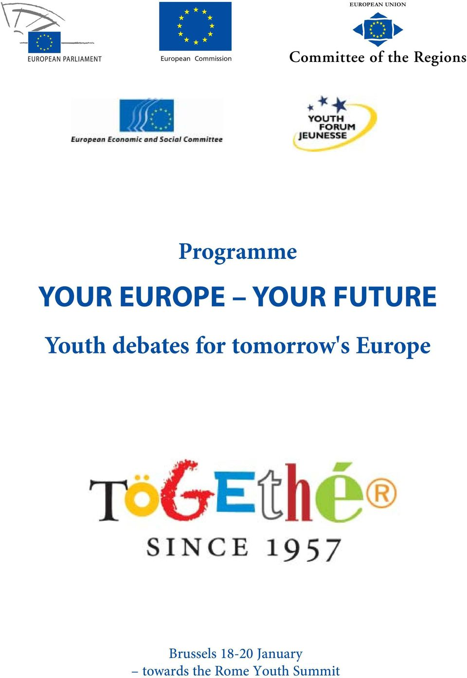 FUTURE Youth debates for tomorrow's Europe
