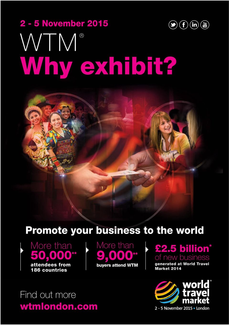 from 186 countries More than 9,000 ** buyers attend WTM 2.