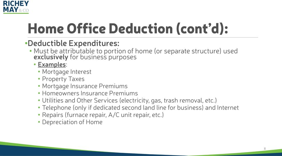 Premiums Homeowners Insurance Premiums Utilities and Other Services (electricity, gas, trash removal, etc.
