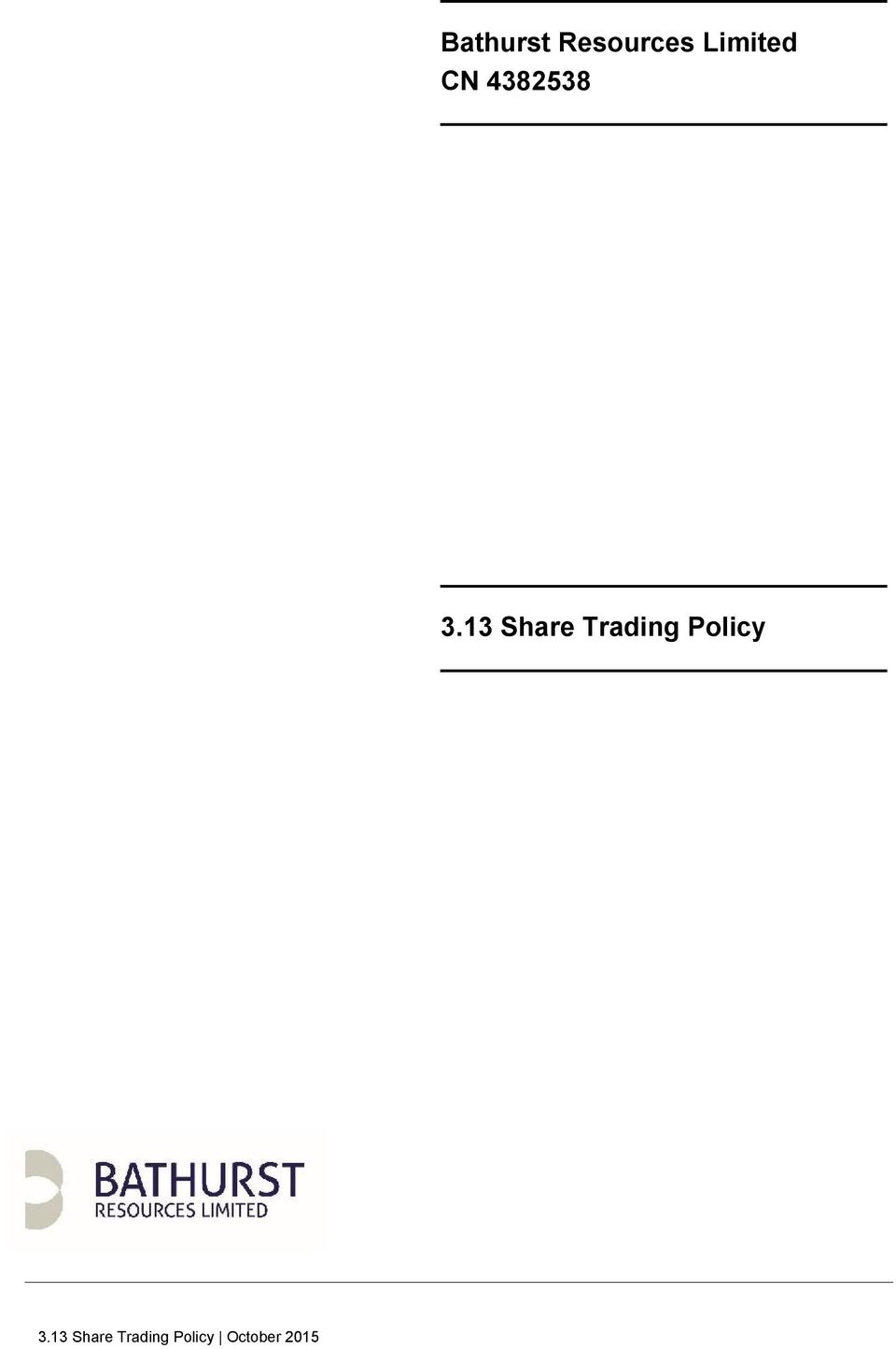13 Share Trading Policy 3.