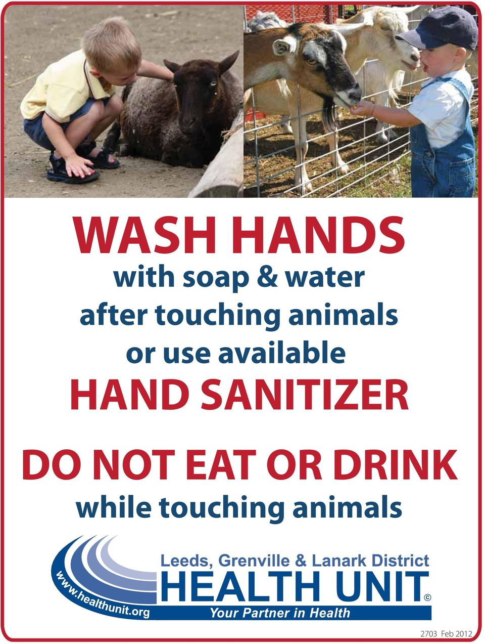 HAND SANITIZER DO NOT EAT OR DRINK