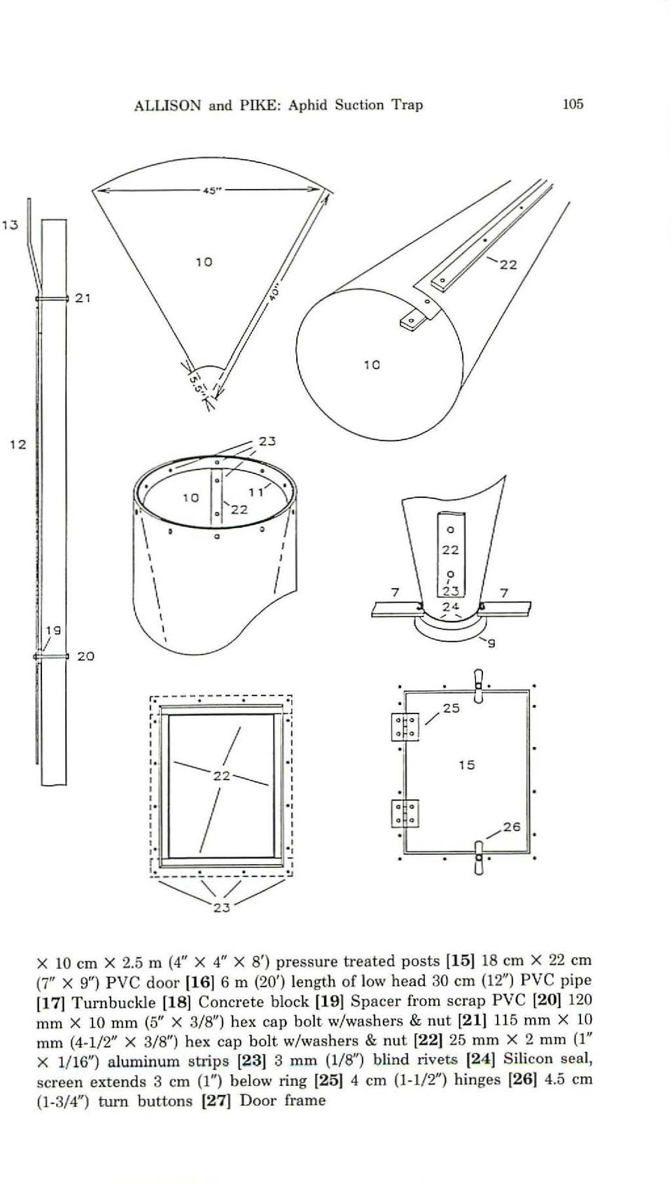 an inexpensive suction trap and its use in an aphid monitoring Telescoping Cleaning Pole concrete block 119j spacer from scrap pvc 120j 120 mm x 10 mm 5