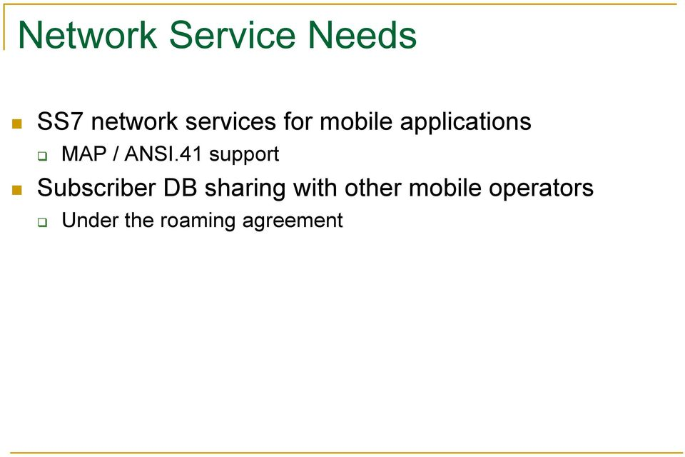 ANSI.41 support Subscriber DB sharing