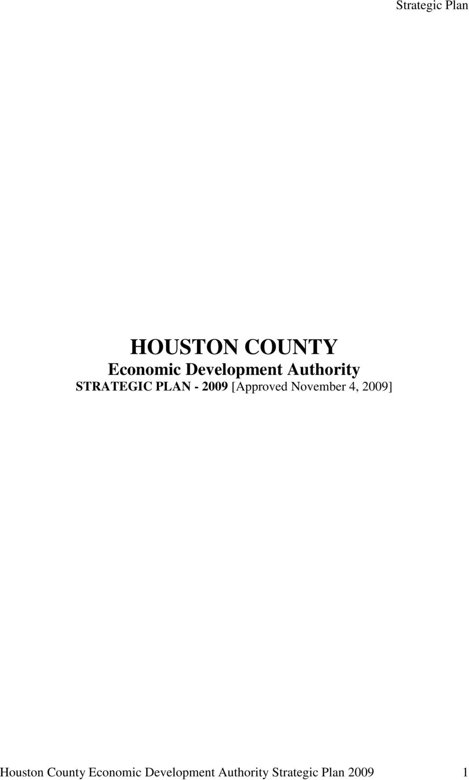 [Approved November 4, 2009] Houston