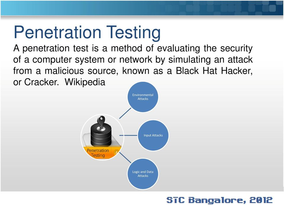 attack from a malicious source, known as a Black Hat Hacker, or