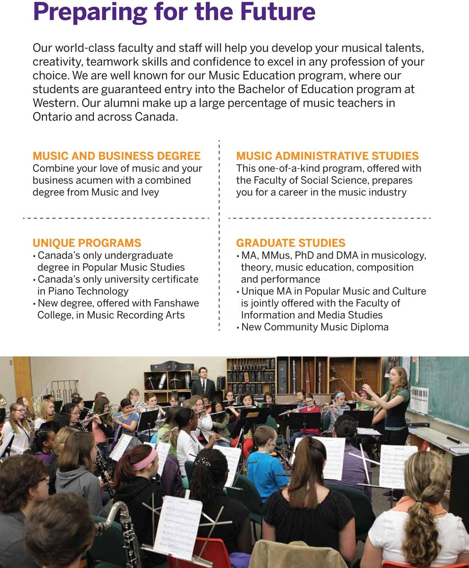 Our alumni make up a large percentage of music teachers in Ontario and across Canada.