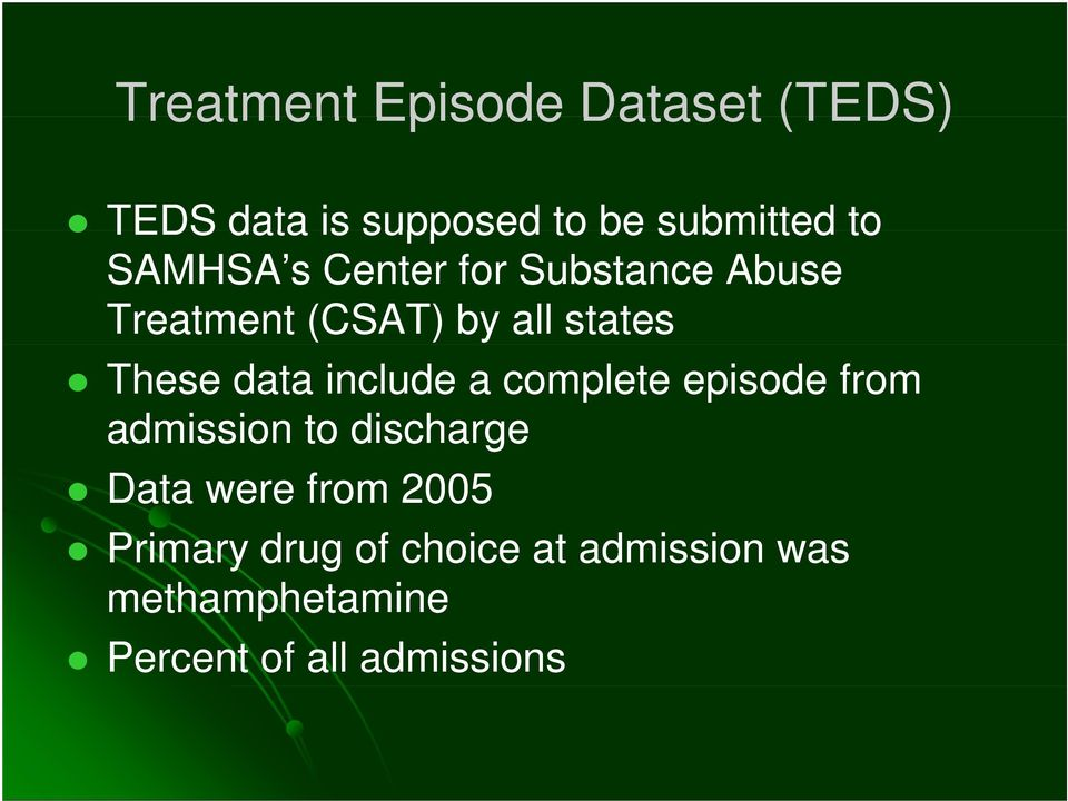 data include a complete episode from admission to discharge Data were from