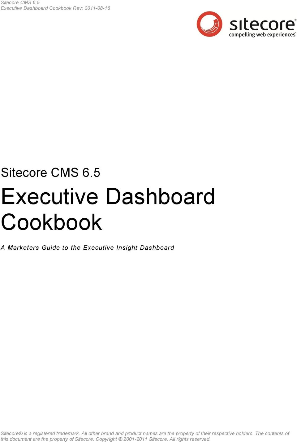 5 Executive Dashboard Cookbook A