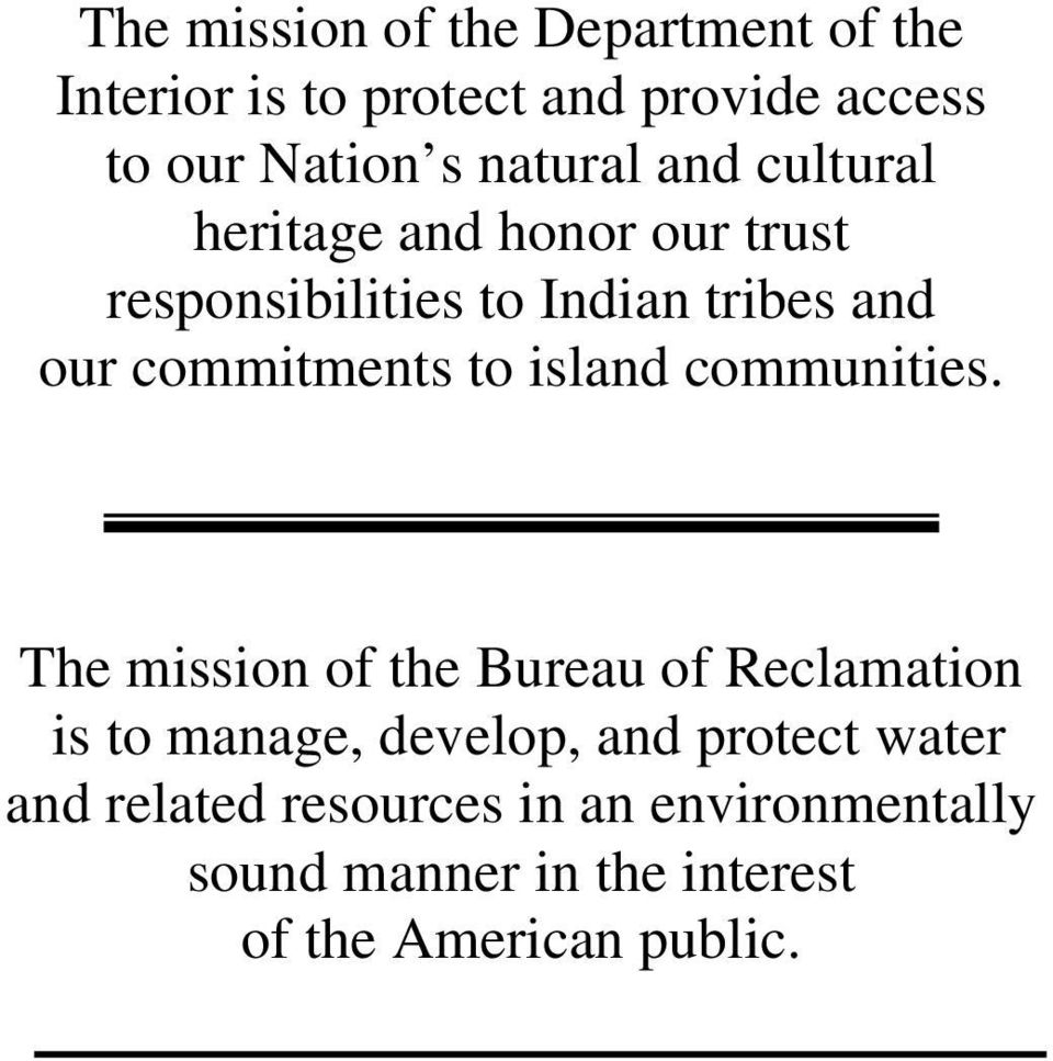 commitments to island communities.